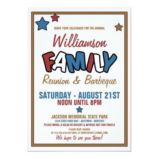 Family Reunion Invitation Templates Fun Family Reunion Invitations