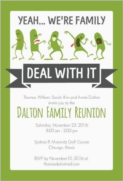 Family Reunion Invitation Templates Funny Family Reunion Invitation