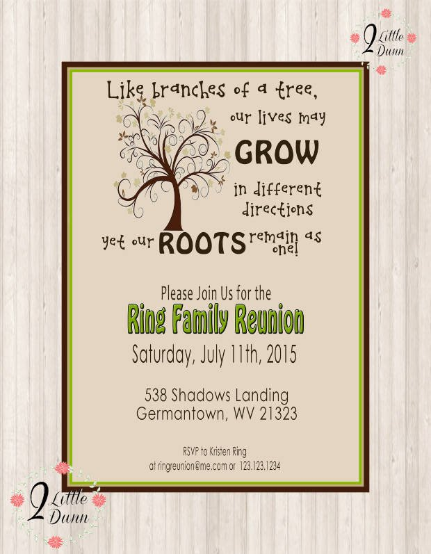 Family Reunion Invitations Templates 16 Family Reunion Invitation Designs Psd Ai