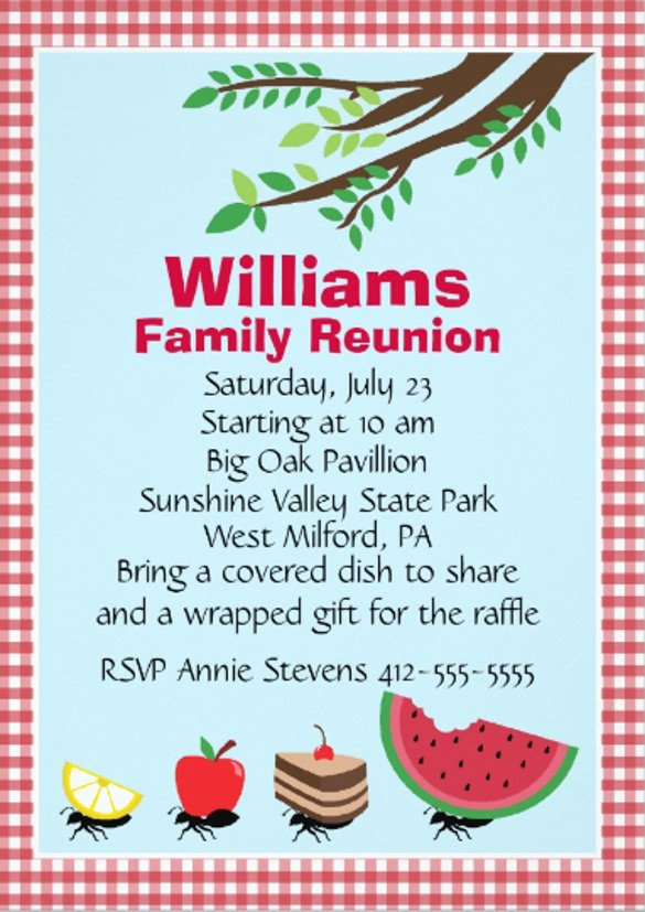 Family Reunion Invitations Templates 24 Picnic Invitation Template Psd Eps Ai