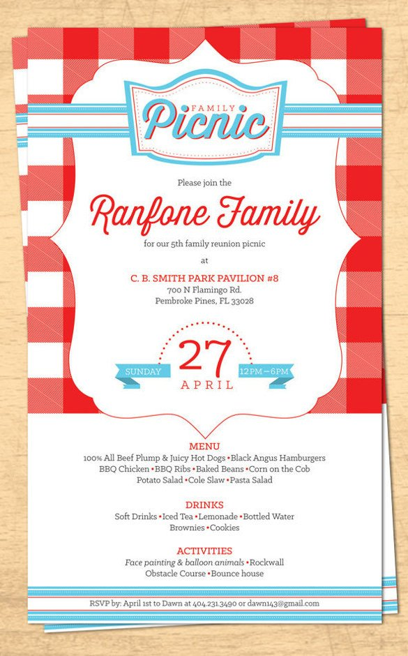 Family Reunion Invitations Templates 32 Family Reunion Invitation Templates Free Psd Vector
