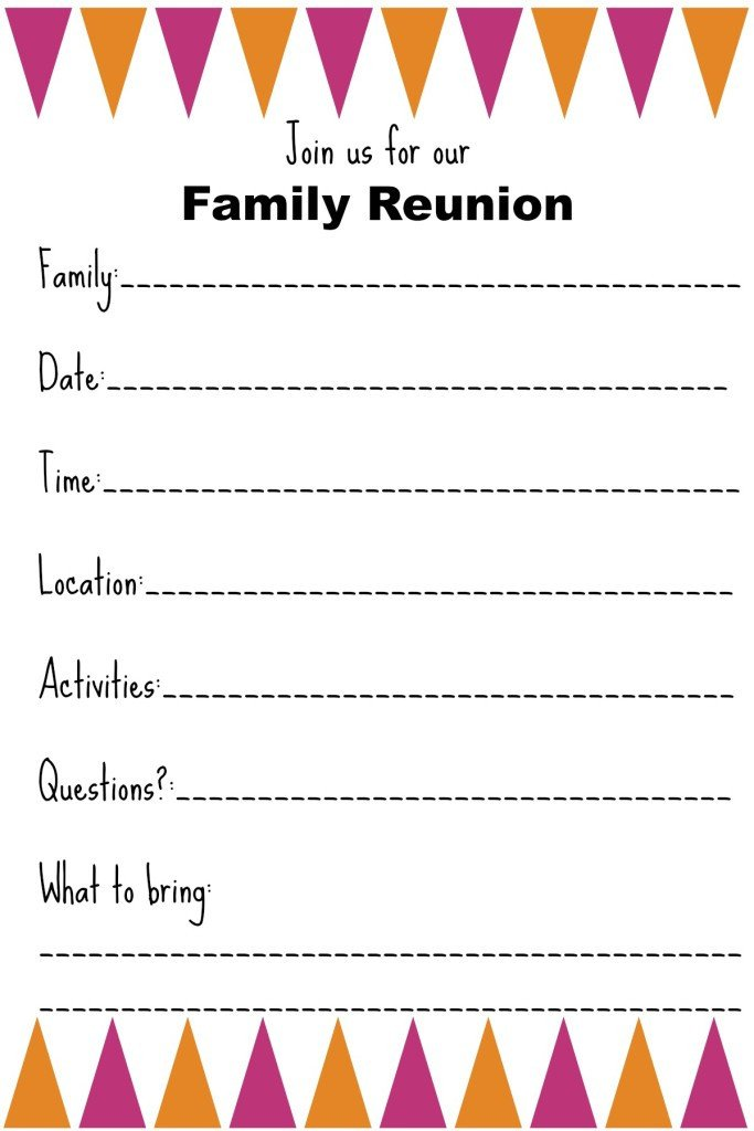 Family Reunion Invitations Templates Family Reunion Invitation Templates Ginny S Recipes & Tips