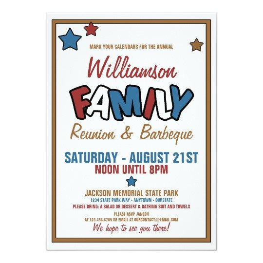 Family Reunion Invitations Templates Fun Family Reunion Invitations
