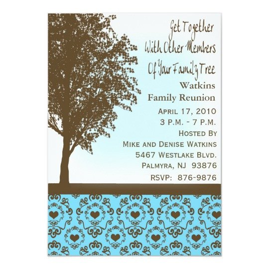 Family Reunion Invitations Templates Invitation to A Family Reunion
