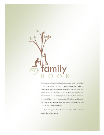 Family Tree Book Template Agendas Templates Family History Book Other Books