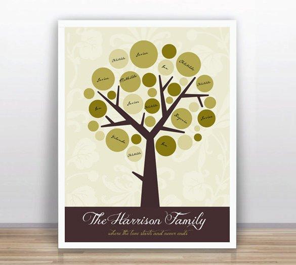 Family Tree Book Template Family Tree Book Template – 9 Free Word Excel Pdf