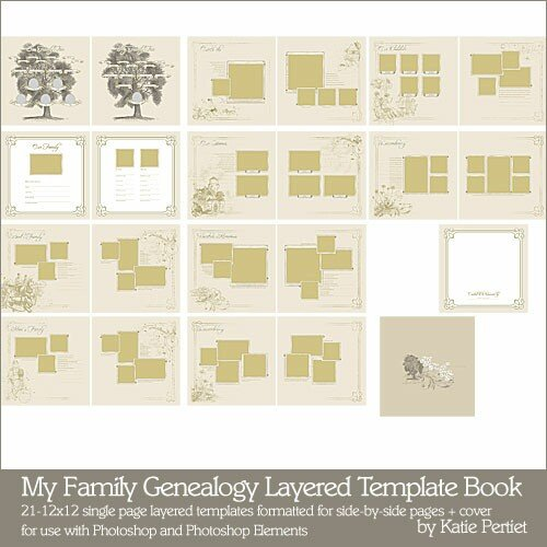Family Tree Book Template My Family Genealogy Layered Template Book Katie Pertiet