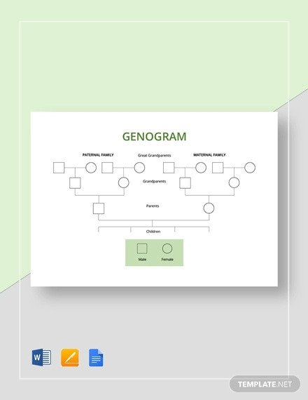 Family Tree Template Google Docs 36 Genogram Templates Pdf Word Apple Pages Google