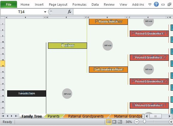 Family Tree Templates Excel Family Tree Template for Excel
