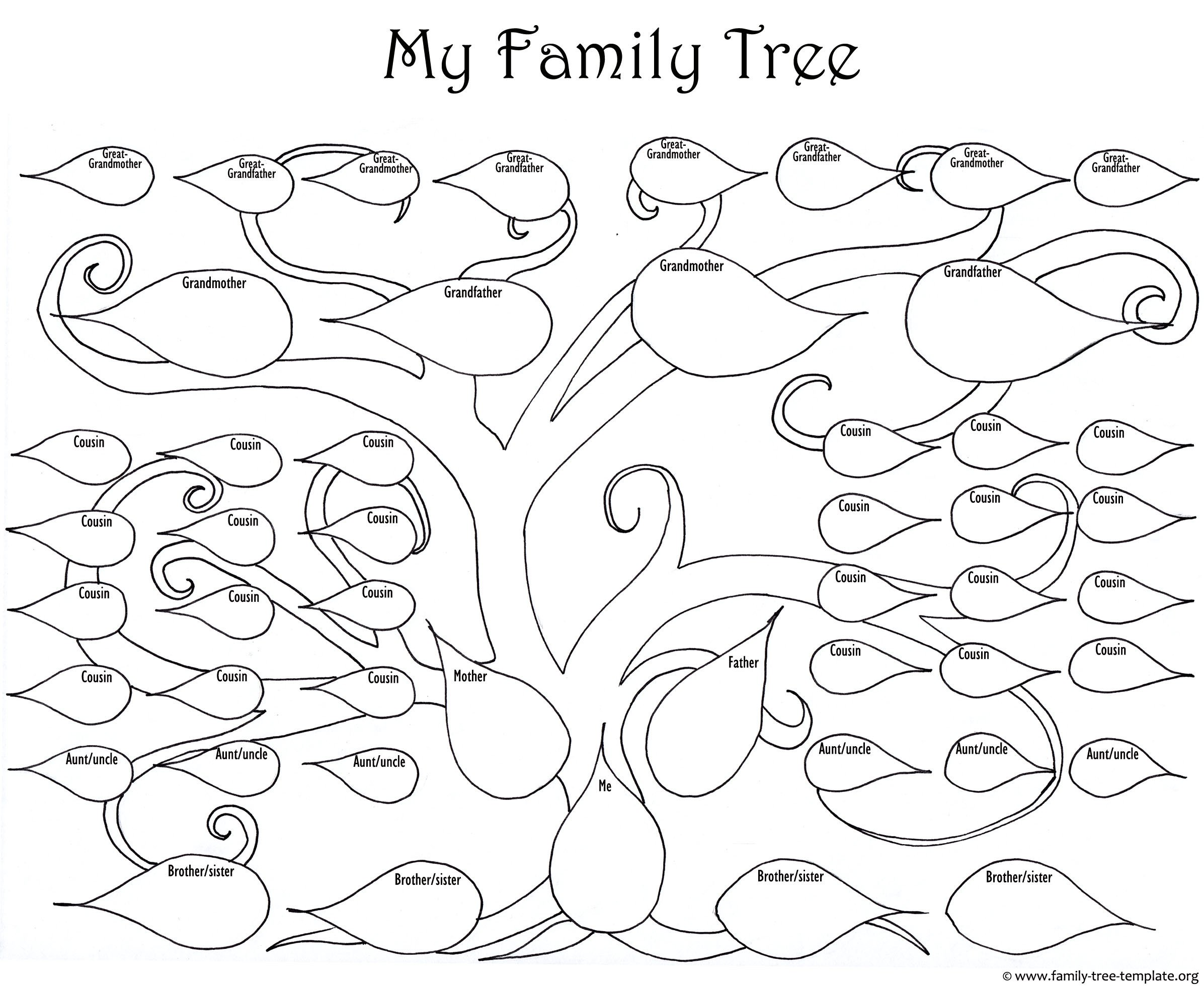 Family Tree with Pictures Template A Printable Blank Family Tree to Make Your Kids Genealogy