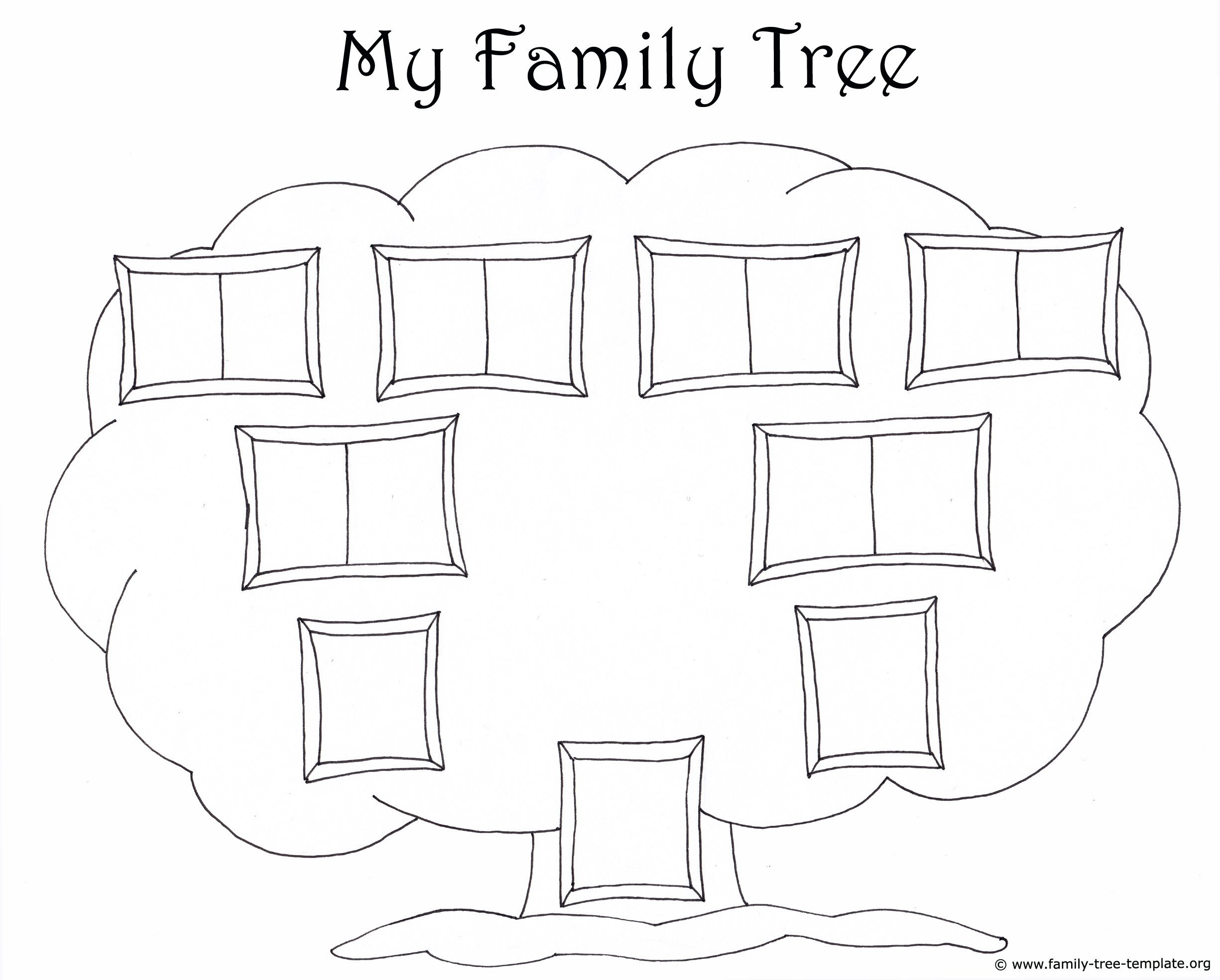 Family Tree with Pictures Template Family Tree Template for Kids Printable Genealogy Charts