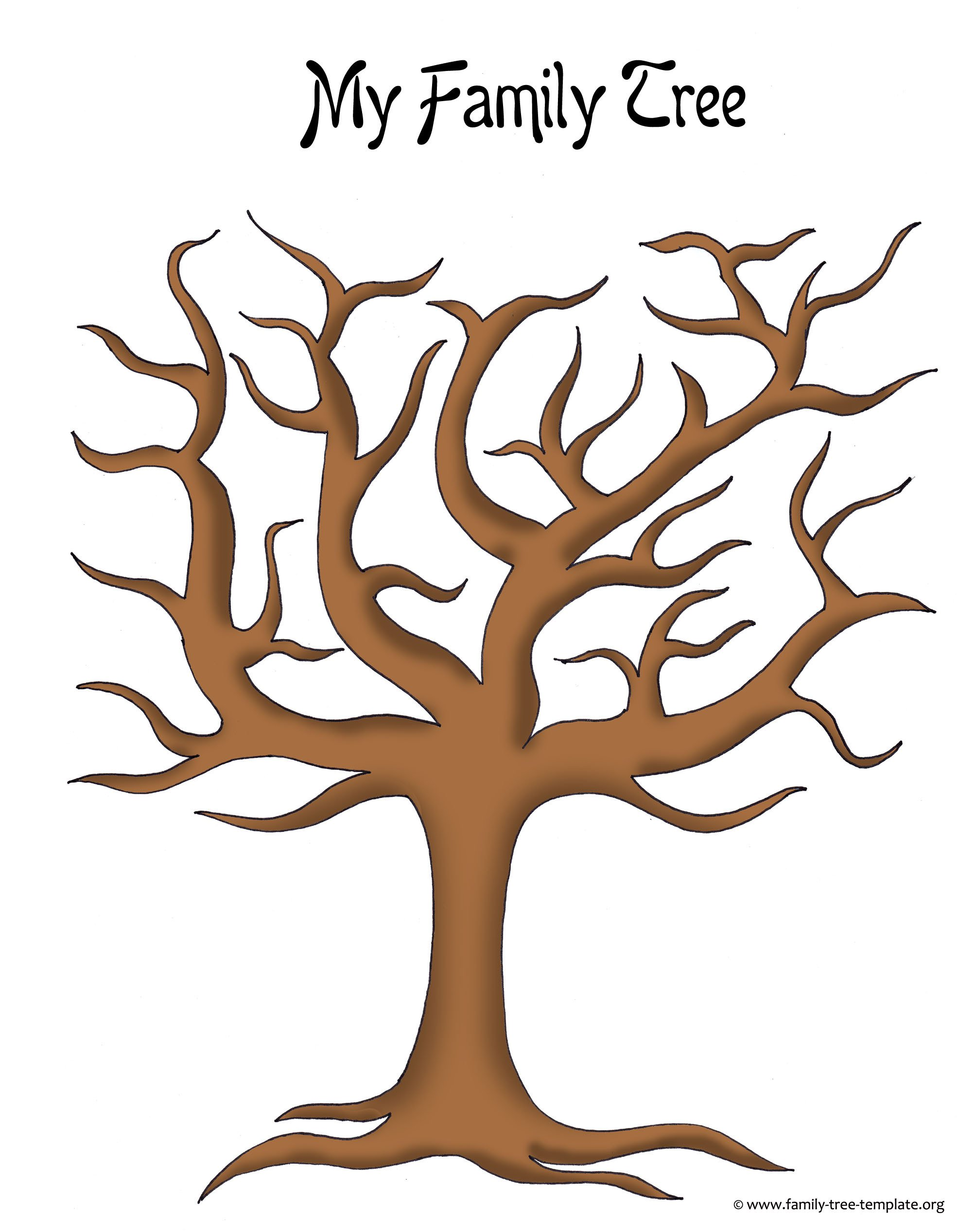 Family Tree with Pictures Template Make A Family Tree Easily with these Free Ancestry Charts