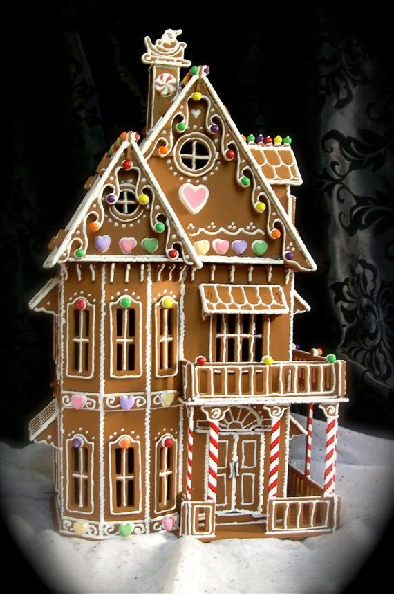 Fancy Gingerbread House Templates Gingerbread House Patterns Victorian House Style Design
