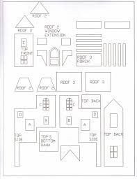 Fancy Gingerbread House Templates Gingerbread House Template Gingerbread