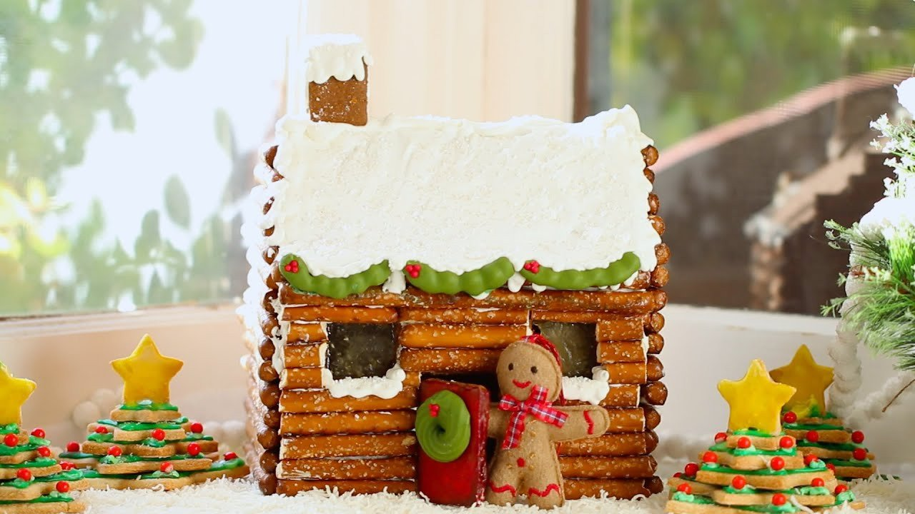 Fancy Gingerbread House Templates How to Make A Gingerbread House Log Cabin No Kit Required