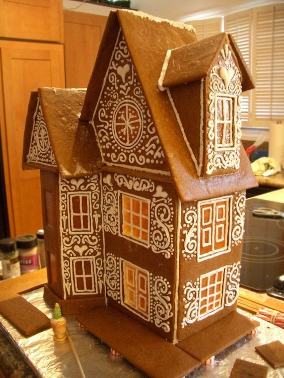 Fancy Gingerbread House Templates the Roof Accent Colors and Gingerbread Houses On Pinterest