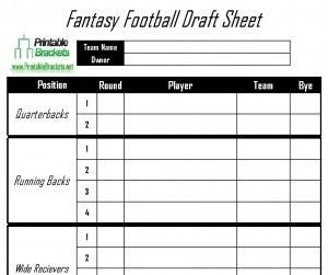 Fantasy Football Draft Spreadsheet Template Fantasy Football Draft Sheet Sports Templates