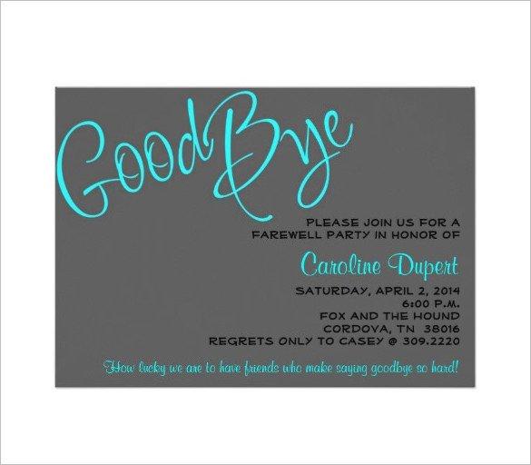 Farewell Invitation Template Free 14 Farewell Card Templates Psd Ai