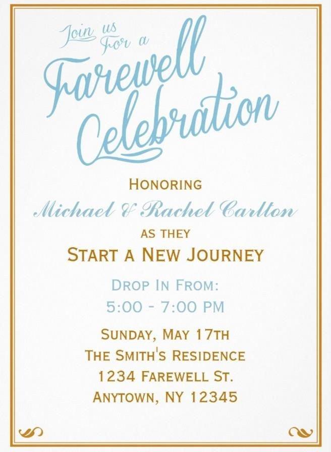 Farewell Invitation Template Free 20 Farewell Party Invitation Templates – Psd Ai Indesign
