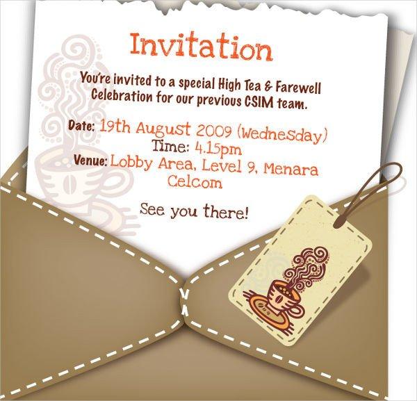 Farewell Invitation Template Free 26 Farewell Invitation Templates Psd Eps Ai