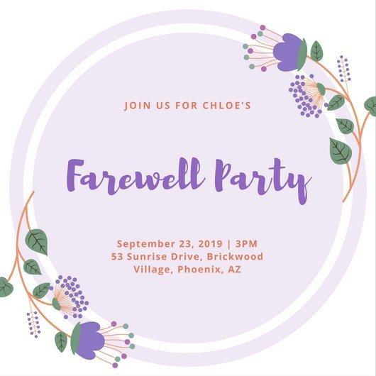 Farewell Invitation Template Free Customize 3 999 Farewell Party Invitation Templates