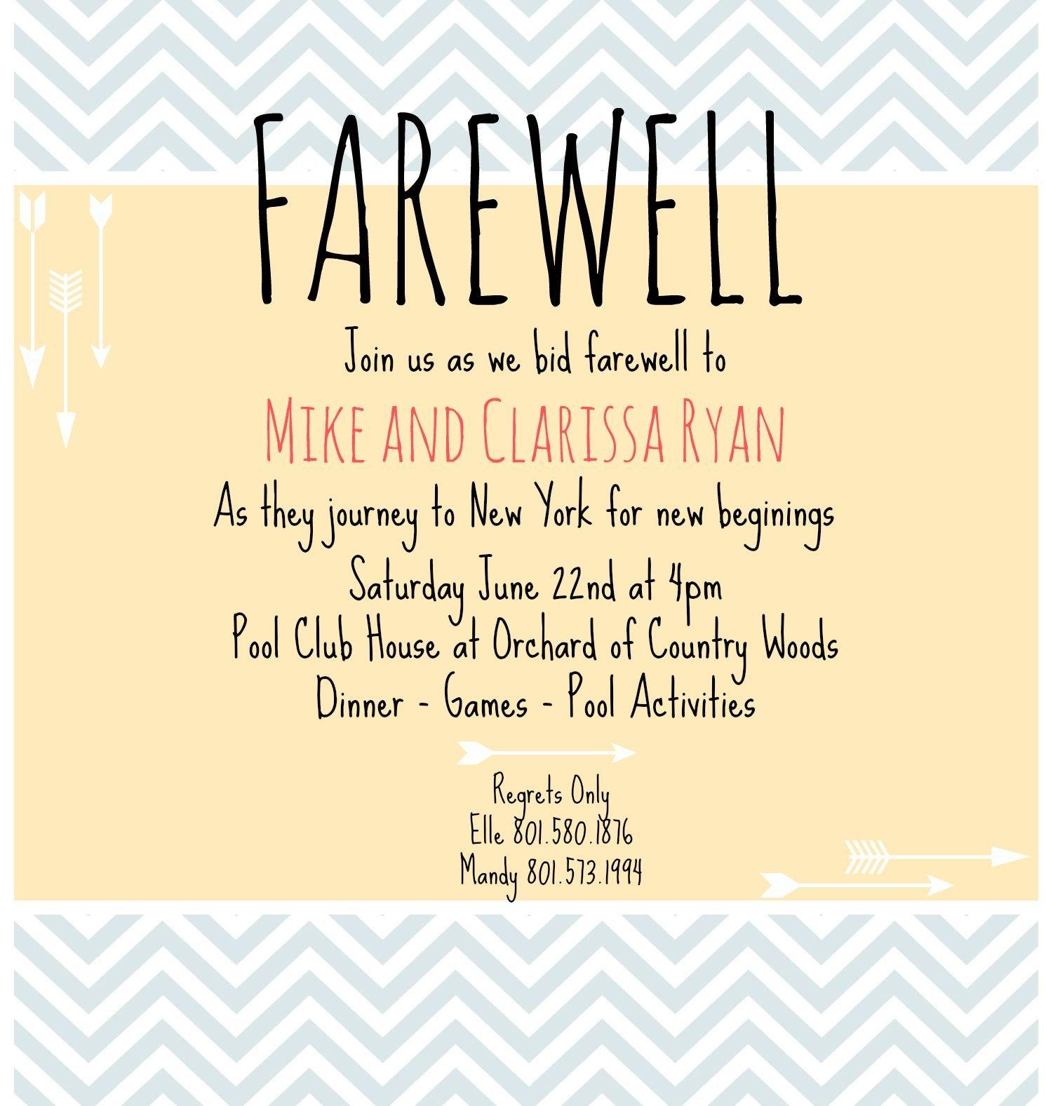Farewell Invitation Template Free Farewell Invite Picmonkey Creations