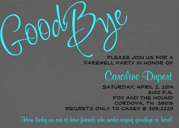 Farewell Invitation Template Free Farewell Party Invitation Template – 20 Free Psd format