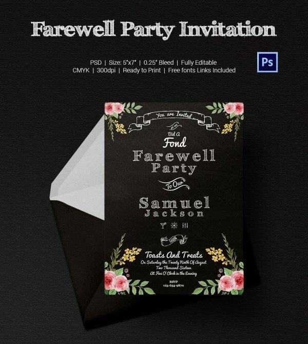 Farewell Invitation Template Free Farewell Party Invitation Template 25 Free Psd format