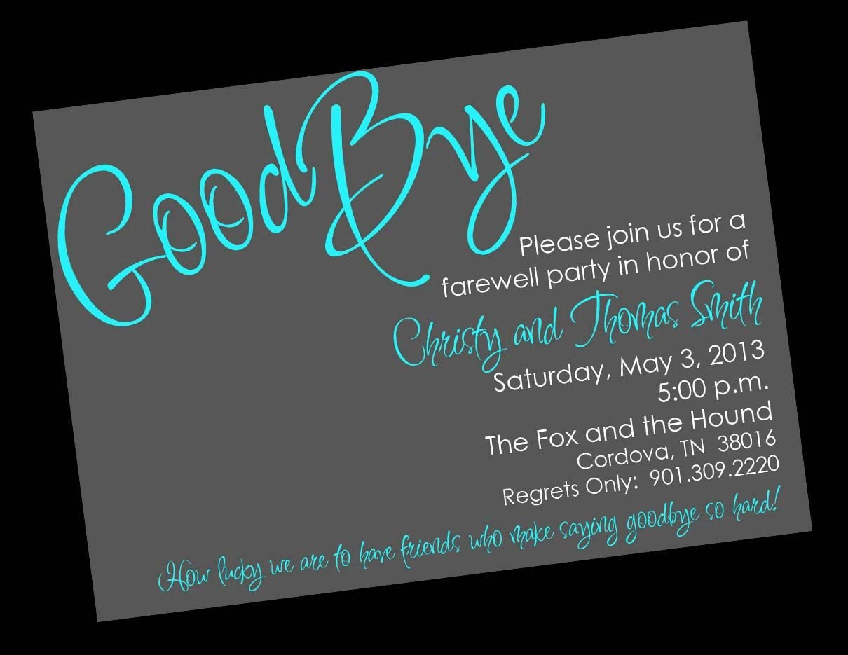 Farewell Invitation Template Free Free Printable Invitation Templates Going Away Party