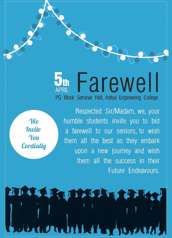 Farewell Invitation Template Free Sample Farewell Invitation Template 8 Download