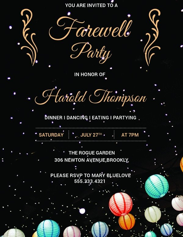 Farewell Party Invitation Template Free 26 Farewell Invitation Templates Psd Eps Ai