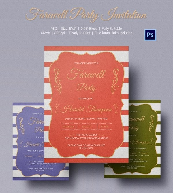 Farewell Party Invitation Template Free Farewell Party Invitation Template 25 Free Psd format