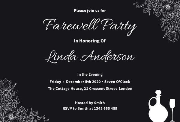 Farewell Party Invitation Template Free Farewell Party Invitation Template 29 Free Psd format