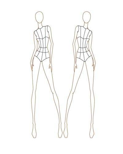 Fashion Design Templates to Print Fashion Sketch Templates