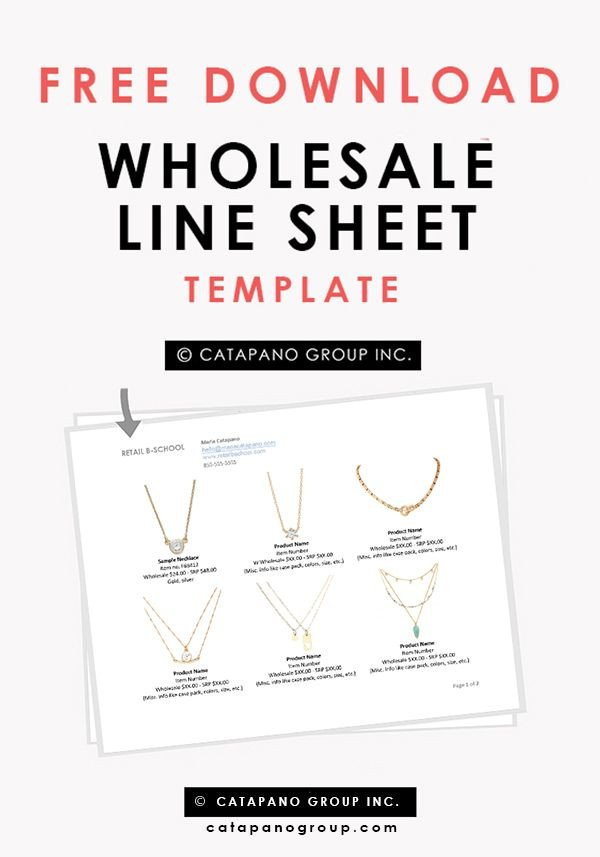 Fashion Line Sheet Template 1000 Images About Templates On Pinterest