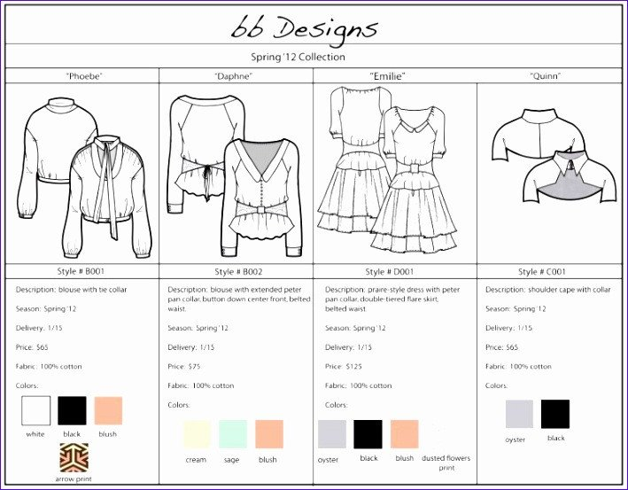 Fashion Line Sheet Template 9 Excel Template Balance Sheet Exceltemplates