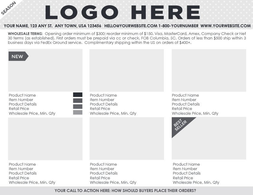Fashion Line Sheet Template Fashion Industry the Value Of A Line Sheet Template