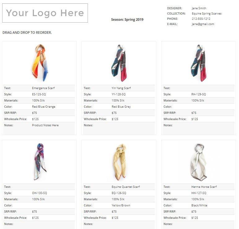 Fashion Line Sheet Template How to Create A Line Sheet