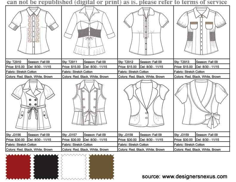 Fashion Line Sheet Template Learning the Lingo Fashion Terms to Know