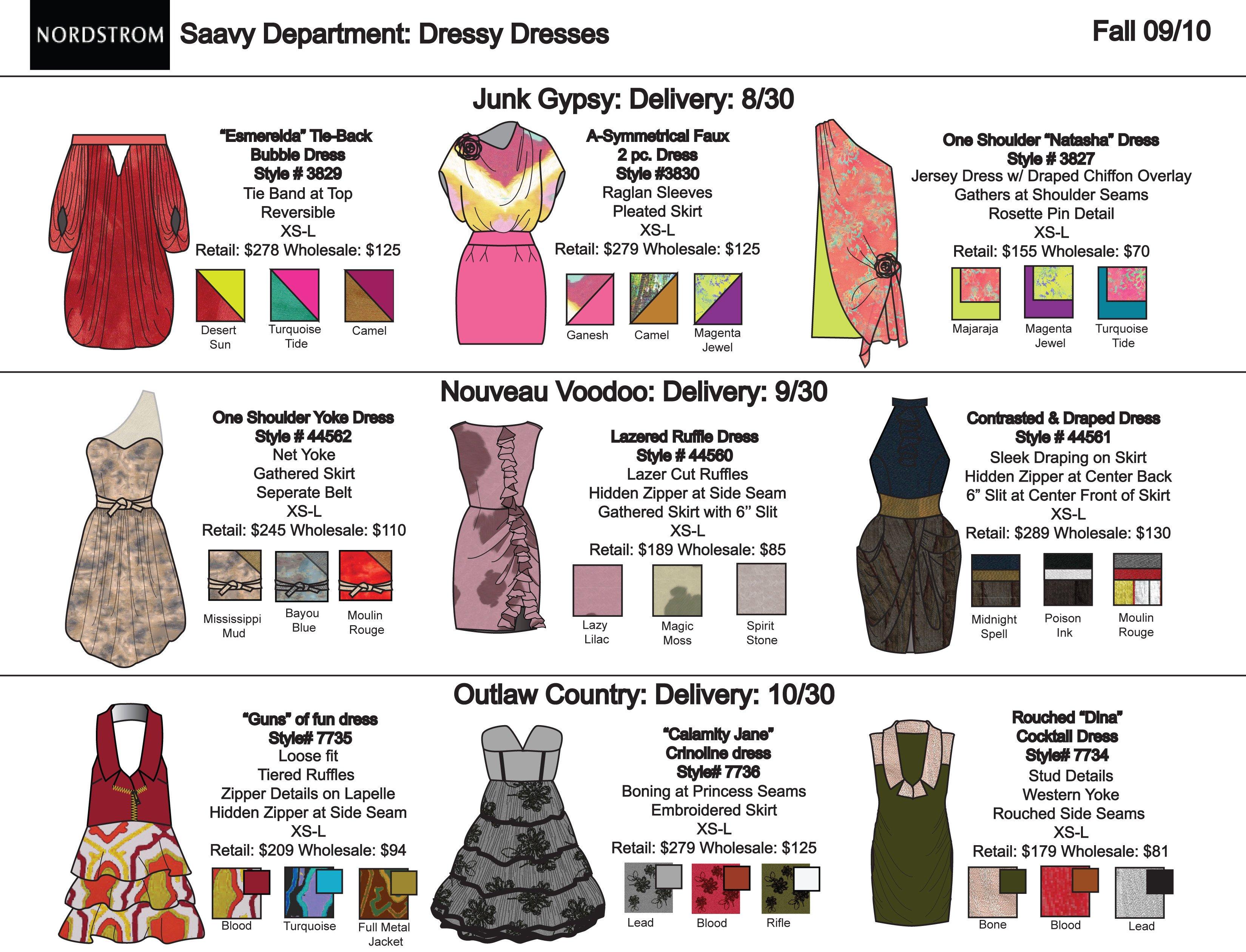 Fashion Line Sheet Template Portfolio