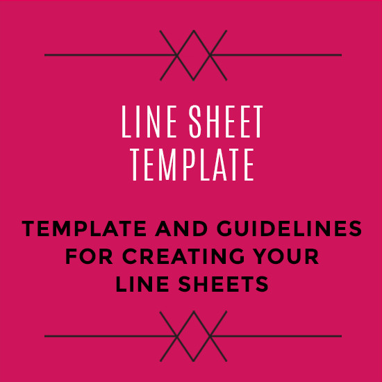 Fashion Line Sheet Template wholesale Line Sheet Template