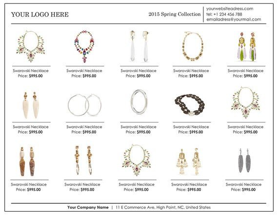 Fashion Line Sheet Template wholesale Linesheet Template Line Sheet Template Product