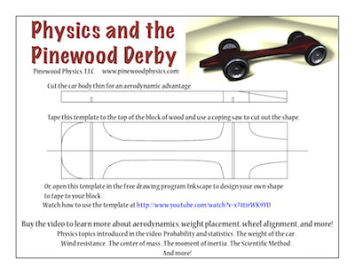 Fast Pinewood Derby Car Templates Extras