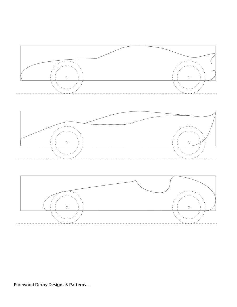 Fast Pinewood Derby Car Templates Ideas Collection for Pinewood Derby Template In Letter