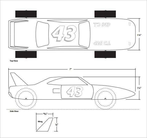 Fastest Pinewood Derby Car Templates Free Pinewood Derby Templates