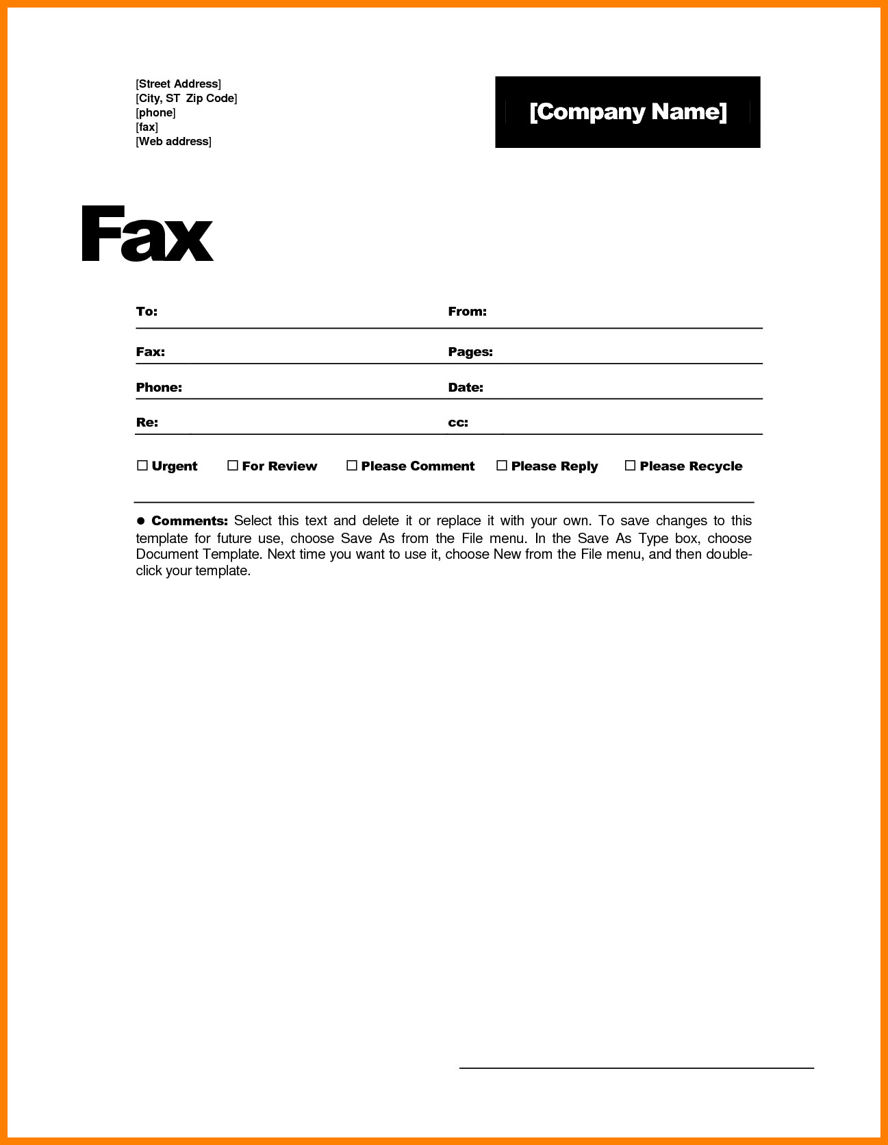 Fax Cover Letter Template 9 Free Fax Cover Sheets Print