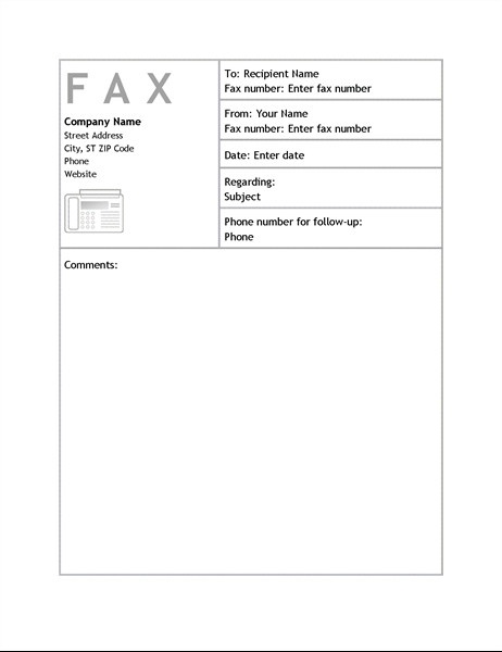 Fax Cover Letter Template Business Fax Cover Sheet