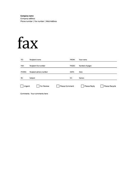 Fax Cover Letter Template Fax Cover Sheet Professional Design
