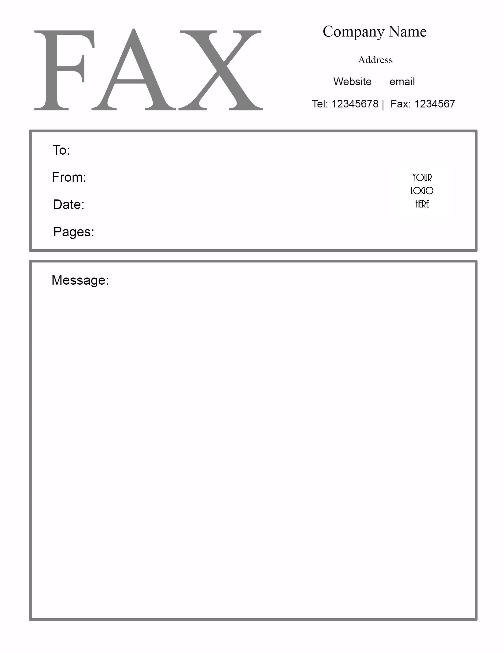 Fax Cover Letter Template Free Fax Cover Letter Template