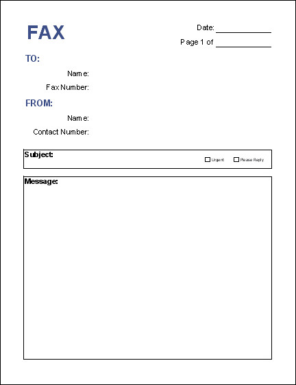 Fax Cover Letter Template Free Fax Cover Sheet Template Download